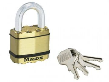 Excell Brass Finish 50mm Padlock 4-Pin